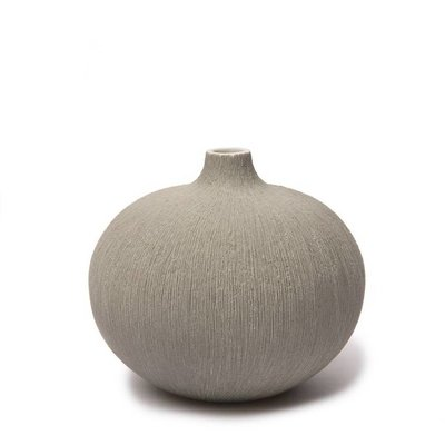 Lindform  Vaasje Bari Large Grey H10cm - hand made Zweeds design