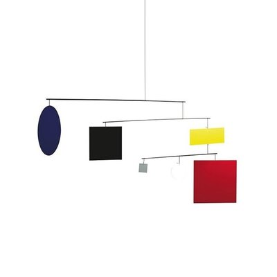 Flensted Mobiles Circle Square Guggenheim Mobile - handmade - 45x105cm