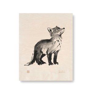 Teemu Järvi  Fox cub - plywood poster
