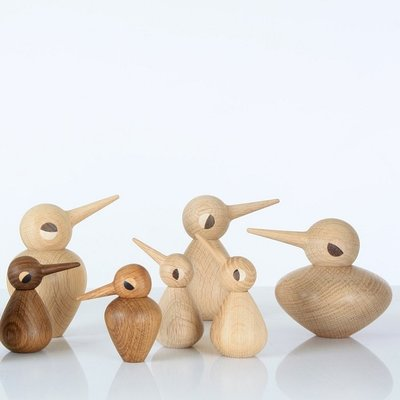 Architectmade Bird Chubby naturel H10,5cm - uniek Deens design