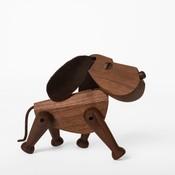 Architectmade Hond Bobby H13cm - walnoot  handmade Deens design