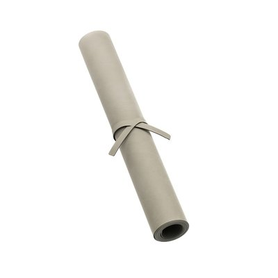 Lind DNA  Tafelloper leer nupo licht grijs 38,5X140cm