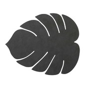 Lind DNA  Leren Placemat Monstera Leaf Nupo Zwart - Deens design