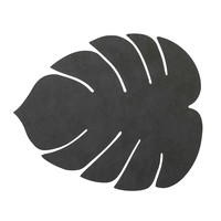 Lind DNA  Placemat leer Monstera Leaf Nupo Zwart