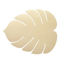 Lind DNA  Placemat leer Monstera Leaf Hippo Gold