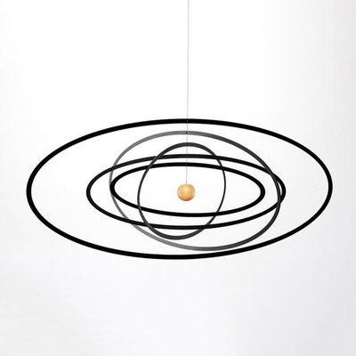 Flensted Mobiles Science Fiction Ellipse Horizontal 23x53cm - handmade