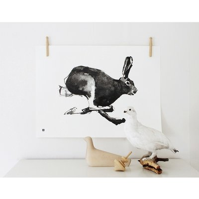 Teemu Järvi  Poster Hare –Haas- 40x30cm - Fins design