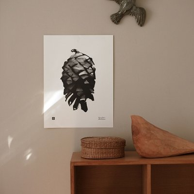 Teemu Järvi  Poster Pine Cone 30x40cm - uniek Fins design