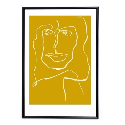 Mette Handberg One Line Female Curry - Limited Edition - A3