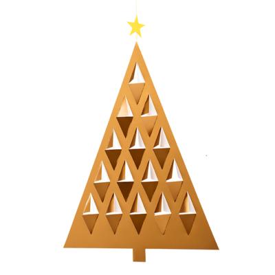 Flensted Mobiles  Prismas Tree Gold 28x20cm - handmade Deens design
