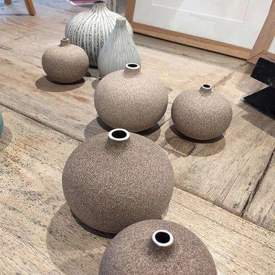 Lindform Vaasje Bari Sand light H6cm – handmade & duurzaam