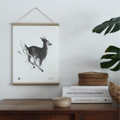 Teemu Järvi  Poster White-tailed Deer 30x40cm - uniek Fins design