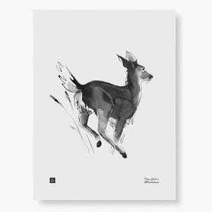 Teemu Järvi  poster White-tailed Deer 30x40cm