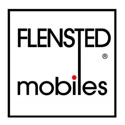 Flensted Mobiles Kites zwart  - 90x35m - handmade Deens design