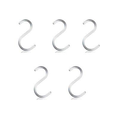 NOMESS Copenhagen S-Hook set Alu H10,5cm - 5pcs - Functioneel Deens design
