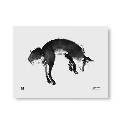 Teemu Järvi  Poster Leaping Fox 40x30cm - Fins design