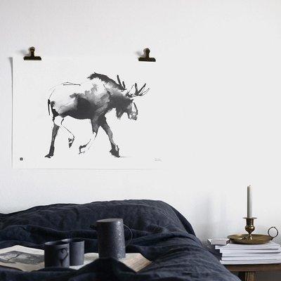 Teemu Järvi  Poster Elk - eland- 70x50cm - Uniek Fins design