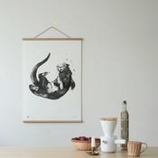 Teemu Järvi  Poster Otter B30xH40cm - Uniek Fins design
