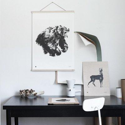 Teemu Järvi  Poster frame 50cm breed - 2 dlg eiken + leren ophangkoord