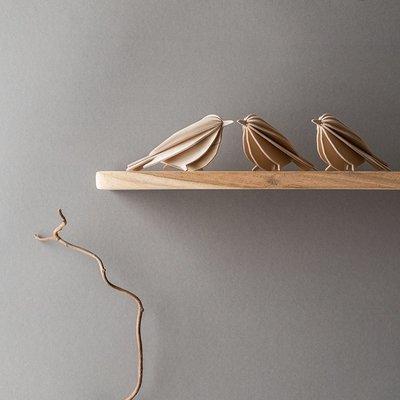 LOVI Bird naturel 12cm - 3D kaart hout - made in Finland