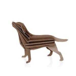 LOVI Labrador bruin 15cm - 3D kaart hout