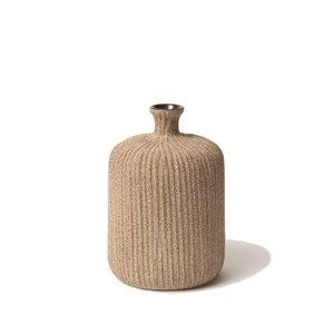 Lindform Vaasje Bottle  Sand mediumstripe H11cm