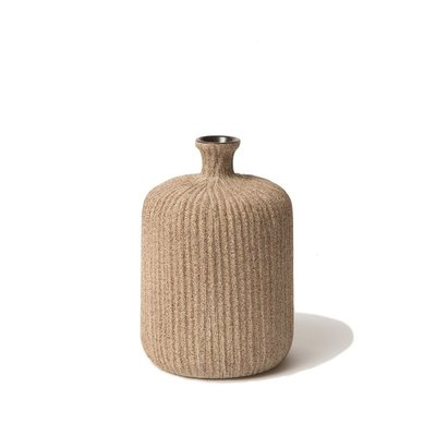 Lindform Vaasje Bottle  Sand mediumstripe H11cm- Zweeds design