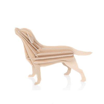 LOVI Labrador blond 15cm - 3D kaart hout - Fins design