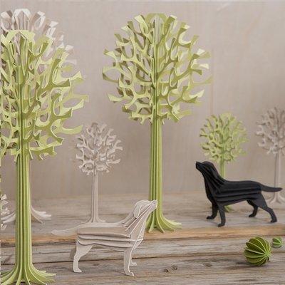 LOVI 3D Kaart Labrador zwart 15cm - Fins design