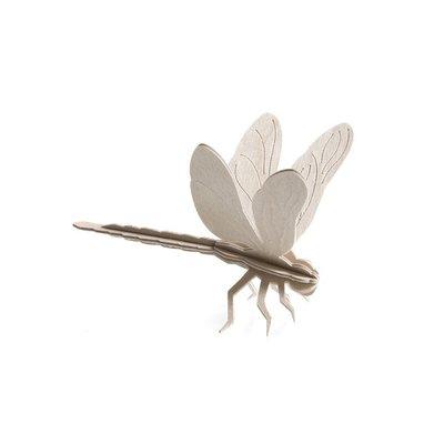 LOVI 3D kaart Dragonfly – Libelle naturel 10cm