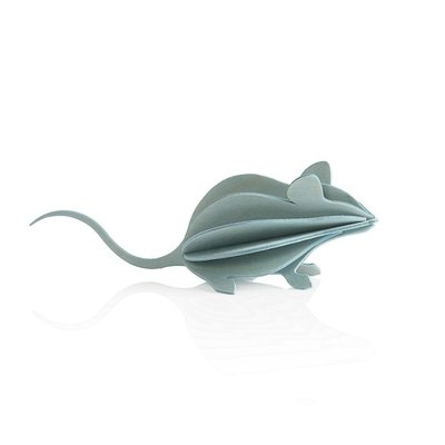 LOVI 3D kaart Muis licht blauw 15cm - Duurzaam Fins design