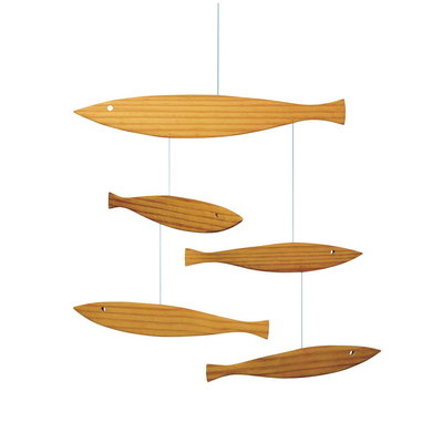 Flensted Mobiles Floating Fish - hout - Made in Denmark - 27x37cm