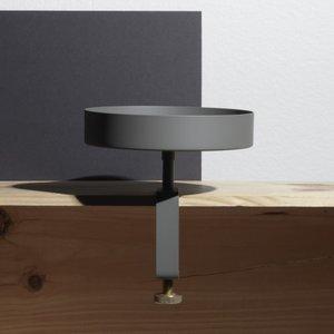 NAVET Clamp Tray Small Graphite grijs Ø15cm