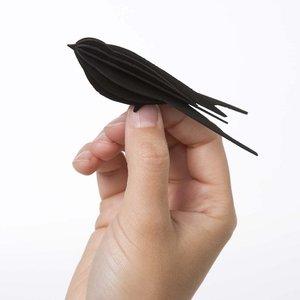 LOVI 3D kaart Zwaluw zwart 10cm