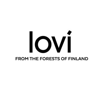 LOVI 3D kaart Zwaluw blauw 10cm - uniek Fins design