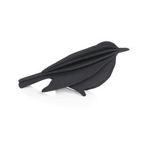LOVI Bird zwart 12cm - 3D kaart hout