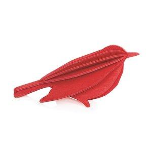 LOVI 3D kaart Bird rood 12cm
