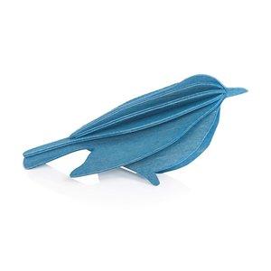 LOVI 3D kaart Bird blauw 12cm