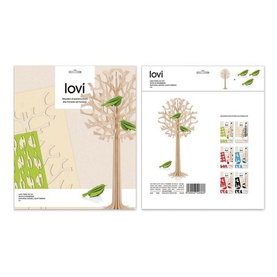 LOVI 3D kaarten Tree H34cm met 3x Bird - made in Finland