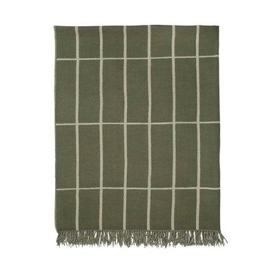 Marimekko Tilliskivi plaid 100% wol groen met wolwit - Fins design