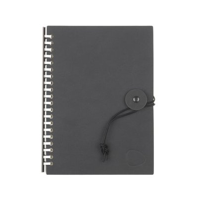 Lind DNA  Notebook - Paper Block Button A5 Antraciet-Grijs