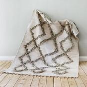 Finarte TIE vloerkleed 170x240 grijs - recyceld cotton