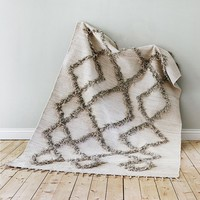 Finarte TIE vloerkleed 170x240 cotton grijs