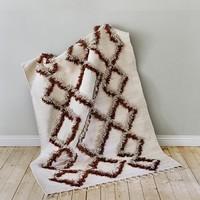 Finarte TIE vloerkleed bruin cotton 170x240