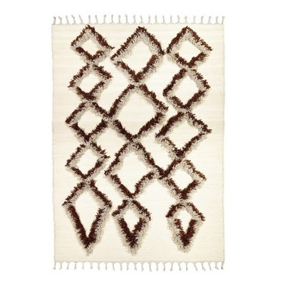 Finarte TIE vloerkleed bruin 170x240  l recyceld cotton
