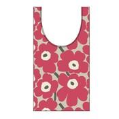 Marimekko Smartbag Unikko pink beige- uitvouwbare boodschappentas