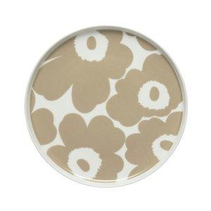 Marimekko Unikko bord Ø20cm beige wit