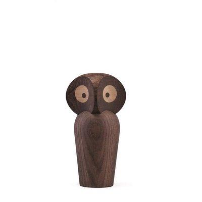 Architectmade Uil small H12cm smoked oak  - Deens design