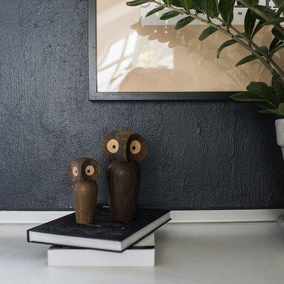 Architectmade Uil mini smoked oak H8,5cm - Handmade Deens design