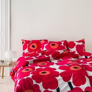 Marimekko Unikko rood dekbedhoes 240x220cm